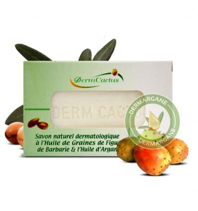 Savon Naturel Dermatologique Anti Taches Brunes / Anti Rides / Anti Cernes à l'Huile de Graines de Figue de barbarie
