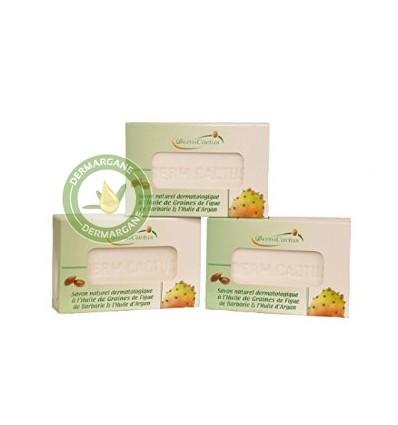 Lot de 3 Savons Naturels Dermatologiques Anti Taches Brunes / Anti Rides / Anti Cernes à l'Huile de Graines de Figue